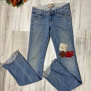 Paige patchwork womens jeans sz 25